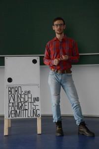 Leon von der Eltz: Mitbegründer des Büros für Wunsch- und Fähikeitsvermittlung. Foto: Anne-Katrin Bicher